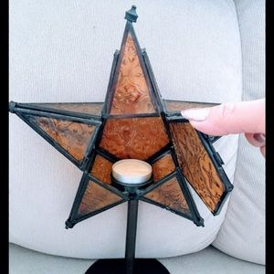 Stained Glass Star Candle tea light holder